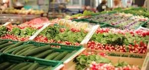 スーパー野菜売り場